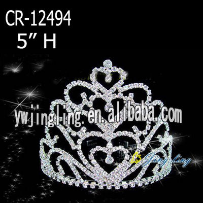 Rhinestone Crowns Pageant Tiaras CR-12494
