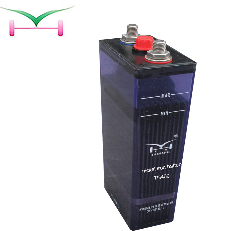 Nickel-iron rechargeable 24V 400ah battery