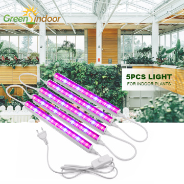 5pcs Indoor LED Grow Light T5 Full Spectrum Phyto Lamp For Plants Growing Flowers Flowering Succulents Seedlings Seed Growth Led