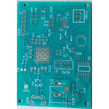2 layer Green Solder Via di pad PCB de