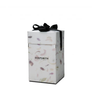 White Unique Luxury Folding Soap Box With Ribbon