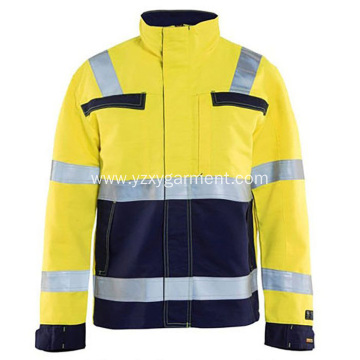 Yellow and black work uniform