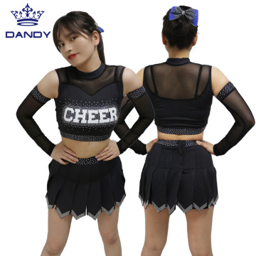 Black all star cheerleading uniforms