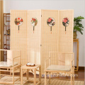 Bamboo 4 panels room divider folding