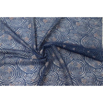 Nylon Metallic Spandex Night Sky Lace Fabric