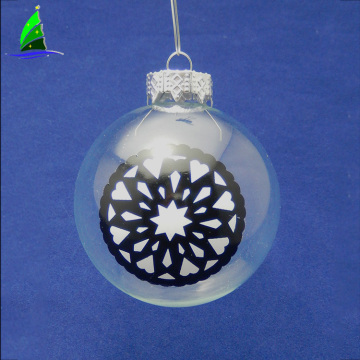 Clear Glass Ball Christmas Tree Ornament