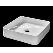 Square pure acrylic counter basin for bathroom