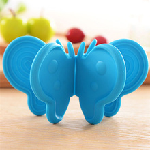 1pcs Adiabatic Pot Clips Butterfly Type Silicone Rubber Magnet Dish Bowl Microwave Oven Armguard Kitchen Tools