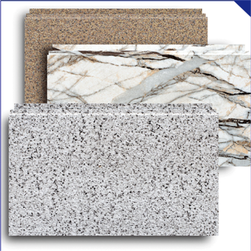Decorative exterior wall covering materials wall panels