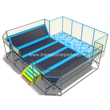 Indoor Trampoline with Foam Pit