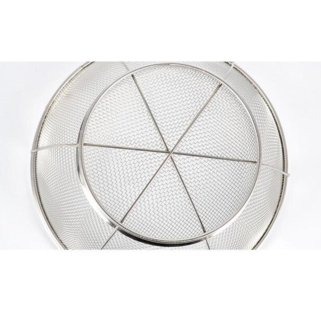 Stainer Basket Fine Mesh Fruit Vegetable Rice Food Draining Wash Colander