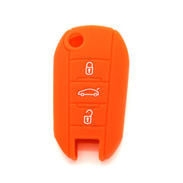 Classic Peugeot 3 buttons silicon key cover