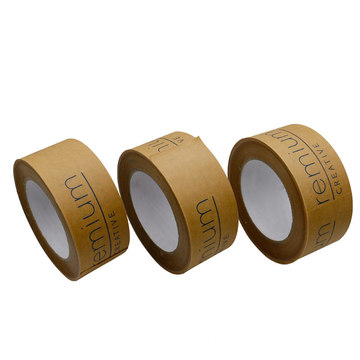 custom logo printed kraft packing gummed paper tape