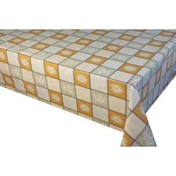 Pvc Printed fitted table covers Linens and Napkins