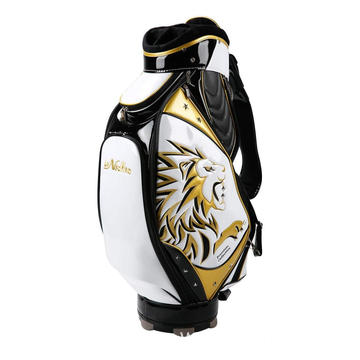 PU embroidered golf bag with studs golf bag