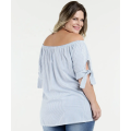 Custom Women Plus Size Off Shoulder fashion Blouse