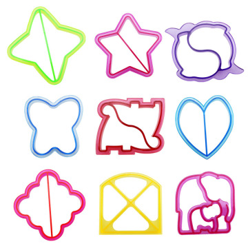 9PCS Colorful Kids Sandwich Bread Cookie Cutter