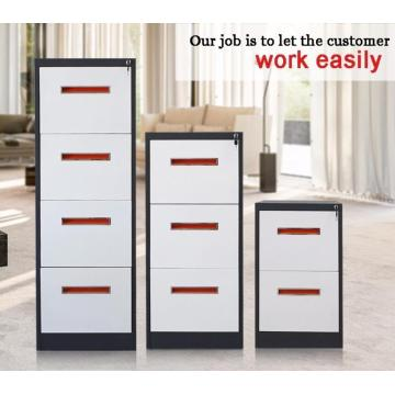 Vertical 4 drawer metal filing cabinet