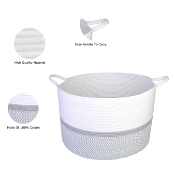 Bathroom Basket For Home Storage Cotton Braid Cheap Wholesale
