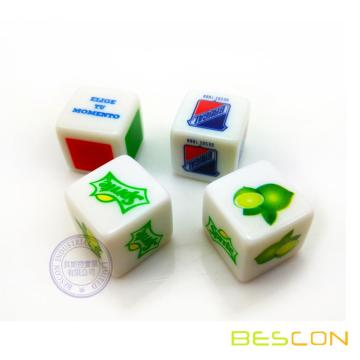 Brand Promotional Full Color Printing LOGO Dice 16MM