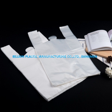 White Plastic Vest Bag