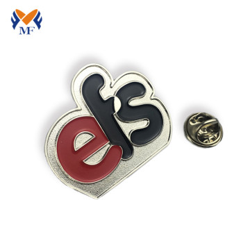 Enamel custom logo letter pin badge