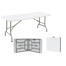 183cm Folding Table Fold-in-Half Banquet Table