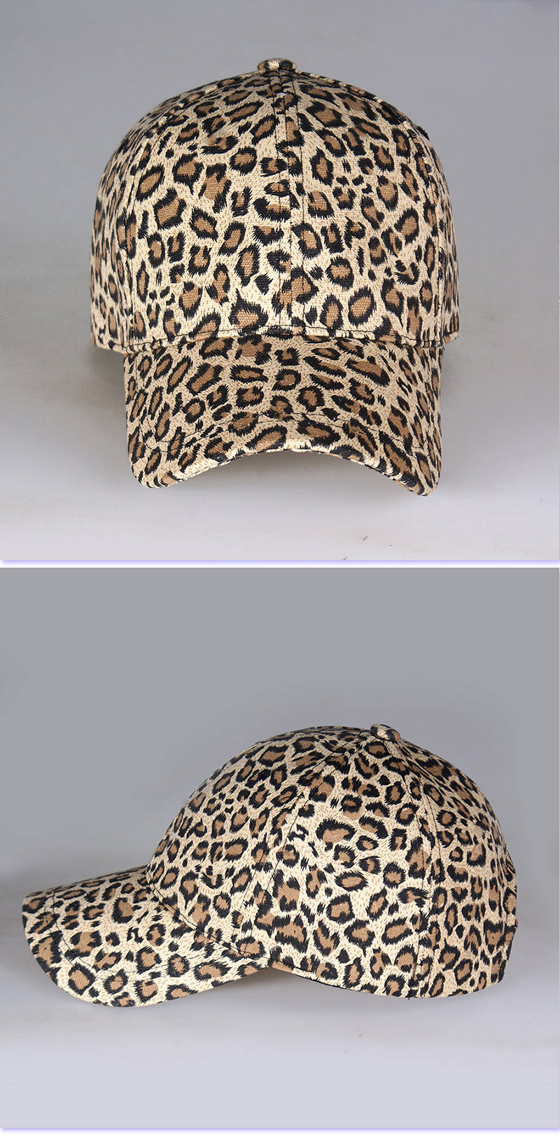 Leopard cap baseball cap man and woman (7)