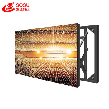 3D glasses free LCD video wall for advertising