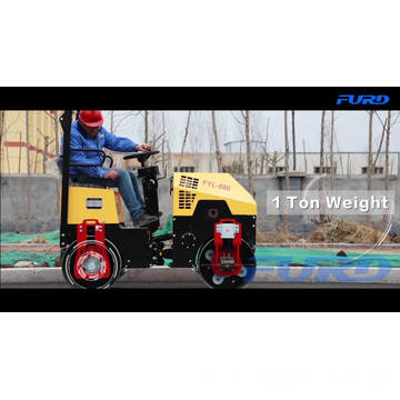 1 Ton Steel Drum Compacting Asphalt Roller In Stock  FYL-880