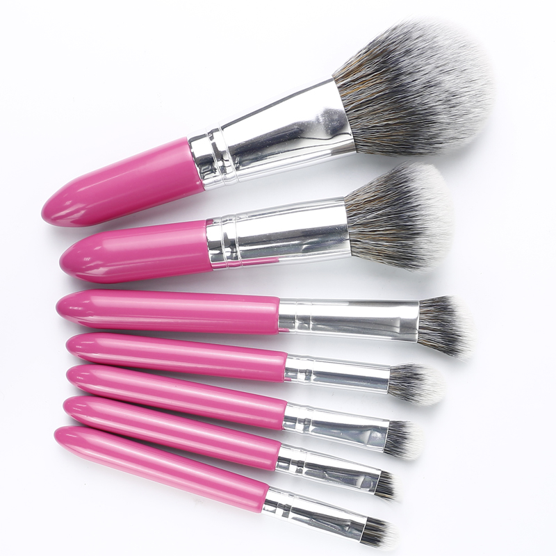 Mini 7pcs Makeup Brush Set for tourist