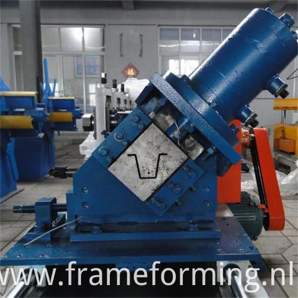 Omega profile furring channel roll forming machine