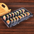 Eco friendly rectangular takeaway disposable sushi tray