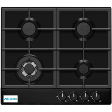 Gas Hob 4 Burner Black Electric Kitchen