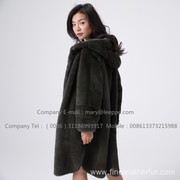 Kopenhagen Velvet Mink Coat In Winter