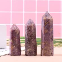 100% Natural PeaChblossom Stones Energy Pillar Obelisk Wand Ore Mineral Reiki Healing Crystal Point Rainbow Wand Home Decor 1PC