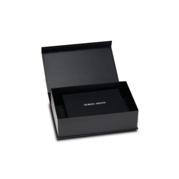 Black Art Paper Luxury Brand Collapsible Magnetic Box