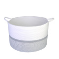 Domestic round storage collapsible dirty laundry basket