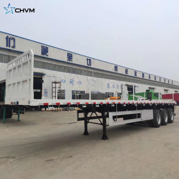 3 Axles 20ft 40ft Container Platform Flatbed