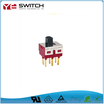 6 Pins Gold Plated Slide Switch