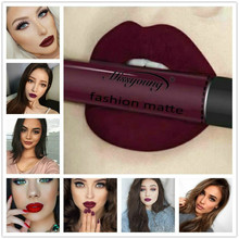 1 Pcs Desire Sexy Dark Red 18 Color Waterproof Lip Gloss Matte Liquid Lipstick Matte Lipstick Lipkit Cosmetics Makeup Lipgloss