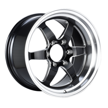Front Truck Wheel 18x8.5 Black Milled