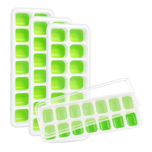 Custom Silicone Ice Cube Trays with Lid