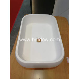 White Oval Countertop stone resin Wash Basins