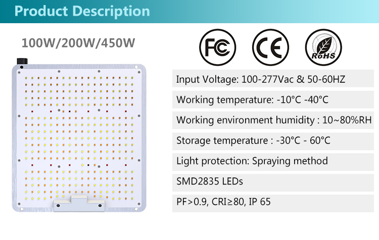 2.4G Wireless Dimming LED Gorw Light 2