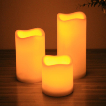 Battery Votive Pillar Flameless LED Candle Home Decor