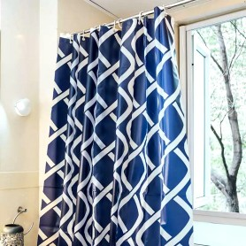 Shower Curtain PEVA White  Belt