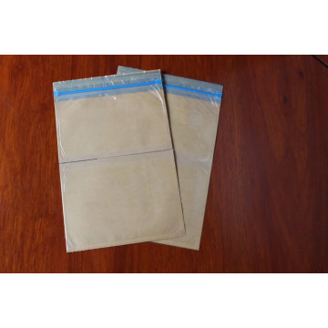 Blue zipper Pressure sensitive envelope