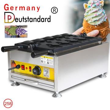 5pcs ice cream taiyaki machine open taiyaki