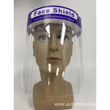Solid mask to prevent splashing FACE SHIELD